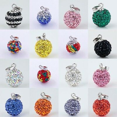 Swarovski Crystal Authentic 925 Silver European Pendant Beads Fit Necklace 10mm