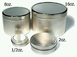 Metal Tin Container Empty Cream Jars  Containers  Balms & Salves Jars pack of 10