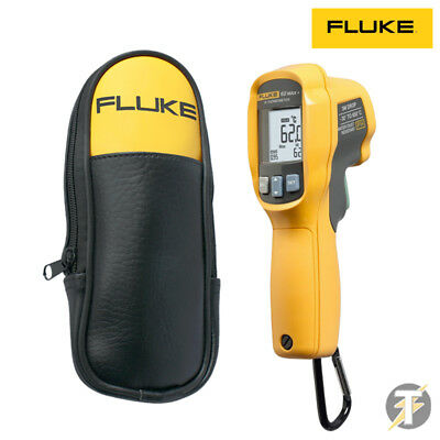 Fluke 62MAX PLUS IR Infrared Thermometer/Thermal Temperature Reader & C23 Case!!
