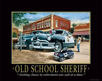 Law Enforcement Motivational Poster Art Print Sheriff Car Badge Patch  PRO19