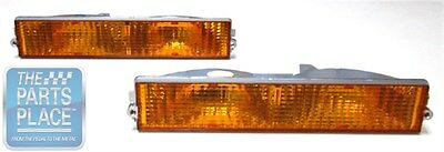 1984-87 Buick Regal Front Parking / Turn Signal Lights - Amber - Pair