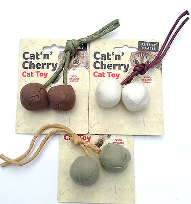 Cat n Cherry Organic Catnip Cat Toy made from 100% natural materials.RUFF TUMBLE