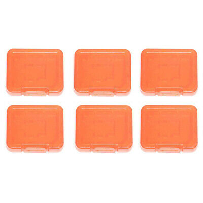 6x Assecure Pro plastic storage case holder for SD SDHC Micro memory card Orange