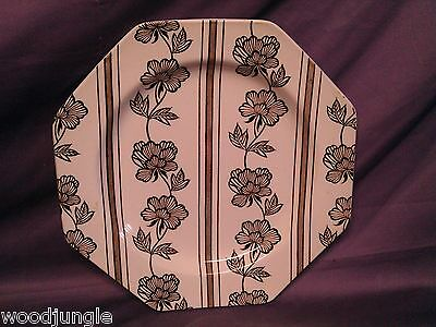 Antique J & G MEAKIN LOTUS DINNER PLATE  PLATTER ART DECO   ENGLAND MID CENTURY