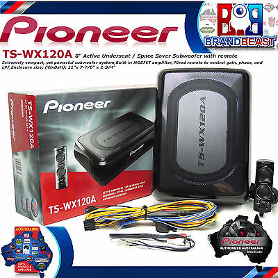 "New Pioneer Ts-Wx120A Oversize 8"" Slim Subwoofer Sub Inbuilt Amp Ute Tswx120A"