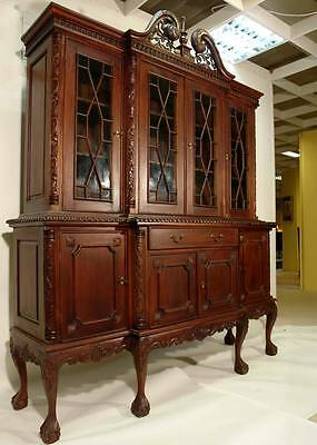 bibliotheque chippendale en acajou style anglais victorien meuble bois buffet. Black Bedroom Furniture Sets. Home Design Ideas