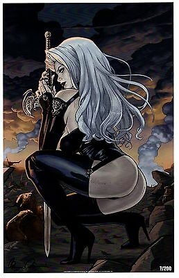 LADY DEATH 2013 Limited Edition Art Print BRIAN PULIDO / Signed & Numbered xx200