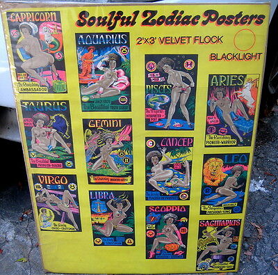 1969 SOULFUL ZODIAC poster catalog for headshop posters  AWESOME!!!!!!!!!!