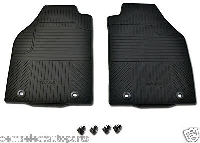 OEM NEW Transit Connect All-Weather Vinyl Floor Mats Rubber Catch-All, Black
