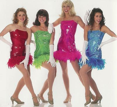 Clearance Dreamgirls Flapper Halloween Jazz Tap Dance Costume Child & Adult