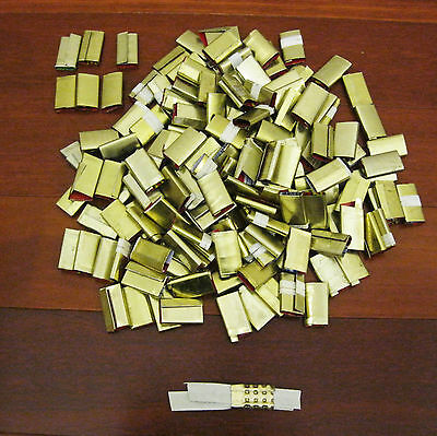 150 x Metal Seal Packing Strap Clips Buckle Suit 12 ~ 16MM Strap Machine New