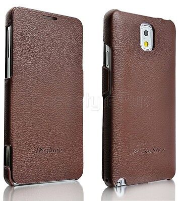 Samsung Galaxy Note 4 Mobile Phone Genuine Real Leather Premium Flip Case Cover
