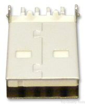 USB Connector, USB Type A, Plug, 4 Ways, Surface Mount, Right Angle