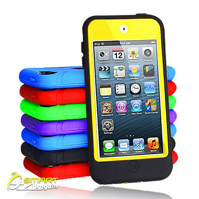 6Color Tough Hard Heavy Duty Case Cover for iPod Touch 5 Gen Build-in screen pro