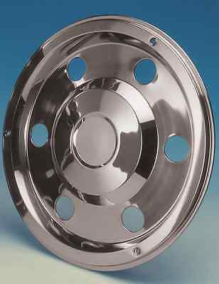 """2 x 19.5"""" MAN Rear wheel trims hub caps covers stainless steel"""
