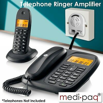 TELEPHONE *FLASHING* RINGER AMPLIFIER - OAP Elderly Impaired Hard of Hearing