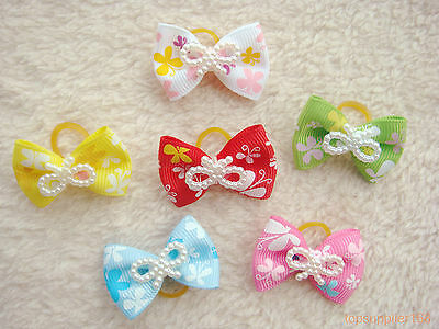 200 dog cat puppy hair bow wholesale lots of headdress hairpin pets gift #a16