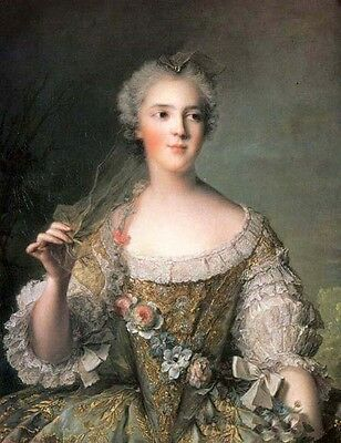 Oil painting female Portrait_of_Madame_Sophie Daughter_of_Louis_XV canvas