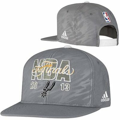 "NBA Basecap Baseballcap SAN ANTONIO SPURS 2013 ""THE FINALS"" Locker Room Hat"