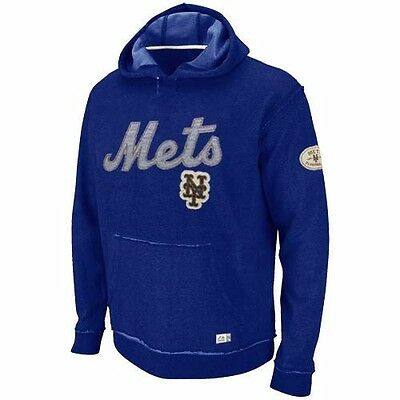 MLB Baseball Hoody Hoodie Kaputzenpullover NEW YORK METS Vintage Home Stretch