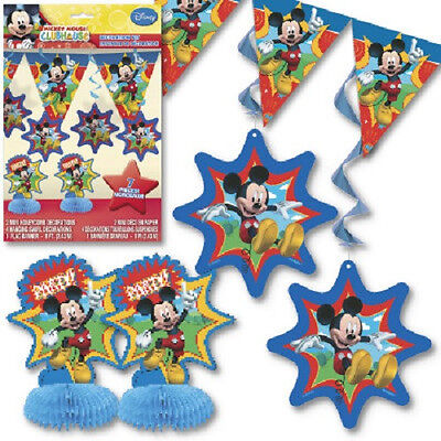 Disney MICKEY MOUSE CLUBHOUSE~(1) 7pc Decoration Kit~ Birthday Party Supplies