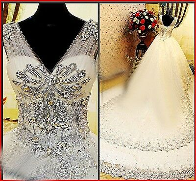 YZ Limited Luxury Nobel A-line With Crystal Fine Wedding Gown