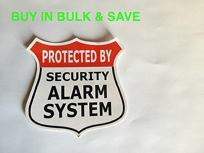Home Alarm Sticker Decal Warning Sticker - Back Adhesive