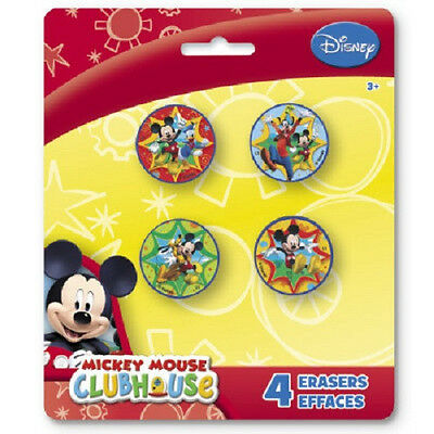 Disney MICKEY MOUSE CLUBHOUSE~(4) Shaped Erasers~ Birthday Party Supplies Favors