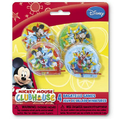 Disney MICKEY MOUSE CLUBHOUSE~(4) Bagatelle Games~Birthday Party Supplies Favors