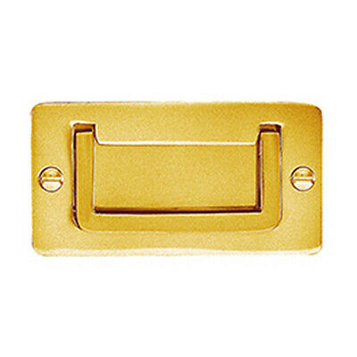 Delf Cabinet Flush Pull 1241MPB 83x43mm Military Handle Polished Brass