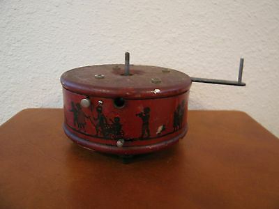 Vintage Antique Red Cast Metal German Music Player or Carousel ??