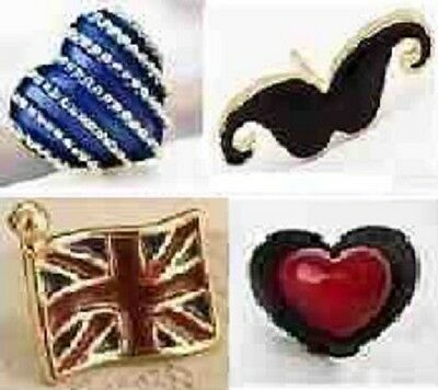 Ladies Jewellery Various Designs Earrings Mustaches Daisy Heart Skull Cherry UK