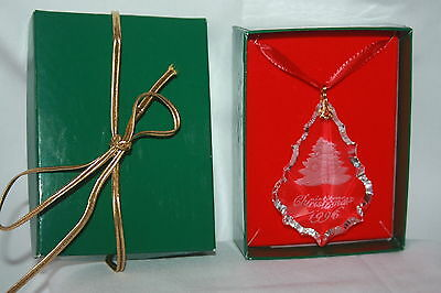 VINTAGE 1996 SPIEGEL CRYSTAL  CHRISTMAS ORNAMENT IN ORIGINAL BOX