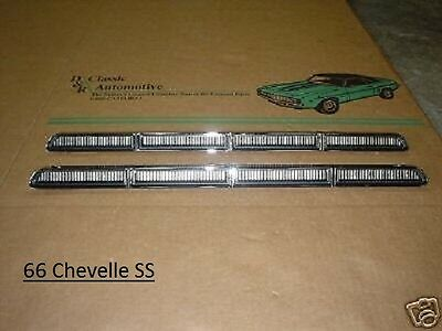 Chevelle 66 Hood Inserts louver ornament SS *In Stock*  Malibu