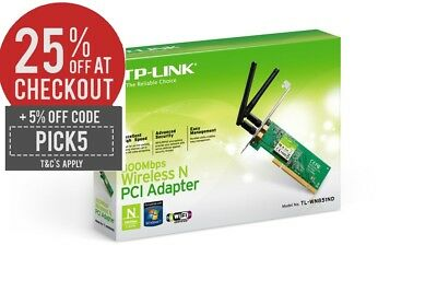 TP-LINK TL-WN851ND Wireless 300Mbps PCI Adapter 2.4GHz 802.11n/g/b PC Desktop