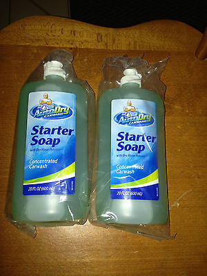 2 New Mr.clean Auto Dry Carwash Large 20Oz Soap