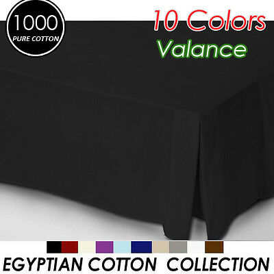 1000TC Egyptian Cotton High Quality Valance King Size-Black