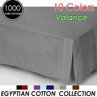 1000TC Egyptian Cotton High Quality Valance King Size-Pewter