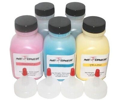 8 Chips 120g//80g CP1525NW Pro CM1415 4 GLOSSY Toner Refill for HP 128A