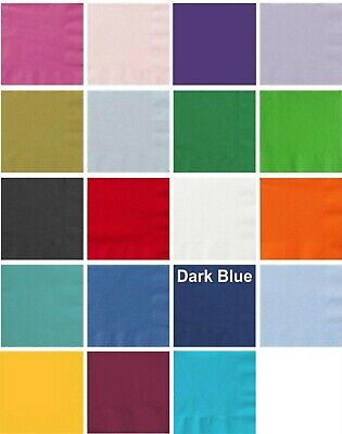 NAPKINS Pk 50  Paper -2ply Serviette - Birthday Party Supplies Decorations Baby