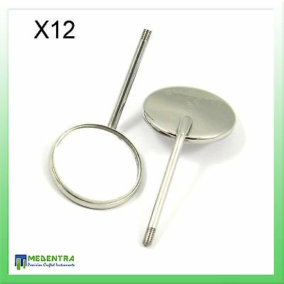 Mouth Examination Mirror Heads No 5 X12 with Mouth Mirror Handle FREE Diagnostic