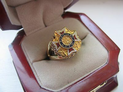 "Superb Jewelers Ladies ""VFW Ladies Auxiliary"" Crest Ring *"