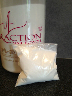 NSI Attraction Acrylic powder Totally Clear 40g Refill New