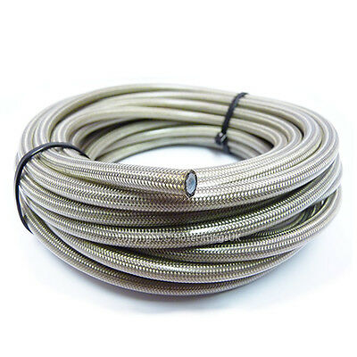 "AN -3 1/8"" 3MM CLEAR PVC Stainless Braided PTFE Brake Hose Pipe 1 Metre"
