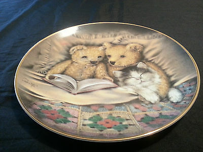 "Franklin Mint Sue Willis Limited Edition Collector Plate ""Bedtime Story"" w/COA"