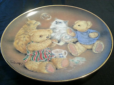 "Franklin Mint Sue Willis Limited Edition Collector Plate ""Bubble Buddies"" w/COA"