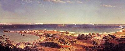 Art Oil painting nice landscape The Bombardment of Fort Sumter beach canvas 36""