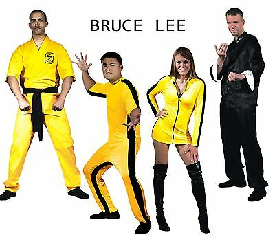 PICK Adult Martial Arts Bruce Lee Jumpsuit Mini Dress Karate Gi Kung Fu Costume