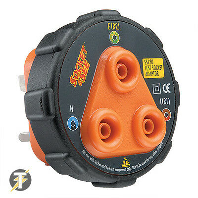 Socket & See SS130 Socket Tester / 4mm Adaptor to check Insulation & Continuity
