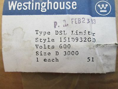 Westinghouse Fuse, 151D932G10, NEW IN BOX!!